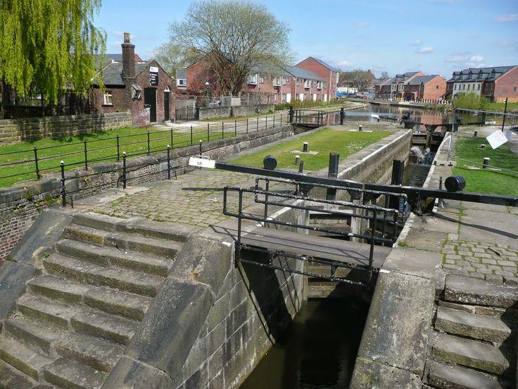 "Chyandour,our ""Home on the Water"": Ashton Canal,Lumb Lane bridge & Droylsden Marina."