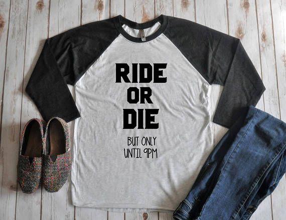 Ride or Die Unisex Raglan