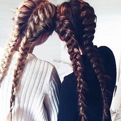 Bestie Goals❤️ Yes or no? #hair #hairstyle #hairgoals #fashion #sister #friends #braids #glasses #summer #sunset #blonde #blackandwhite #weheartit #tumblr #tumblrgirl #grunge #alternative #hairgoalstumblr #longhair