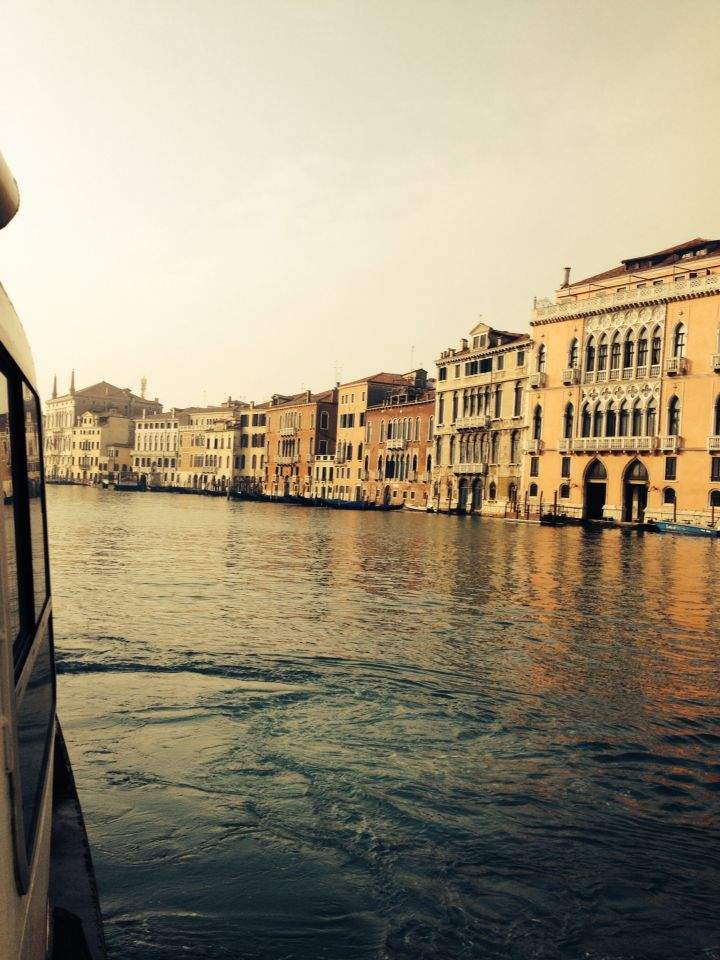 View from the afternoon #grandcanal #venice