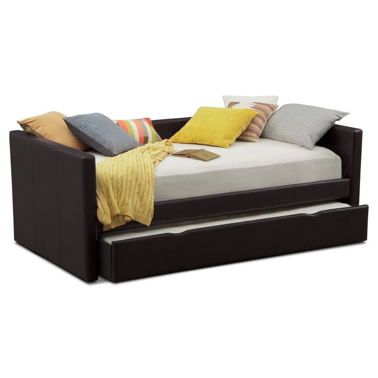 carey brown full daybed with trundle value city furniture