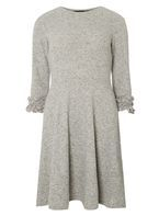 Womens Light Grey Fit and Flare Dress- Grey