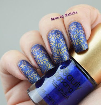 Nails by Malinka: Beauty BigBang Royal Blue stamping polish