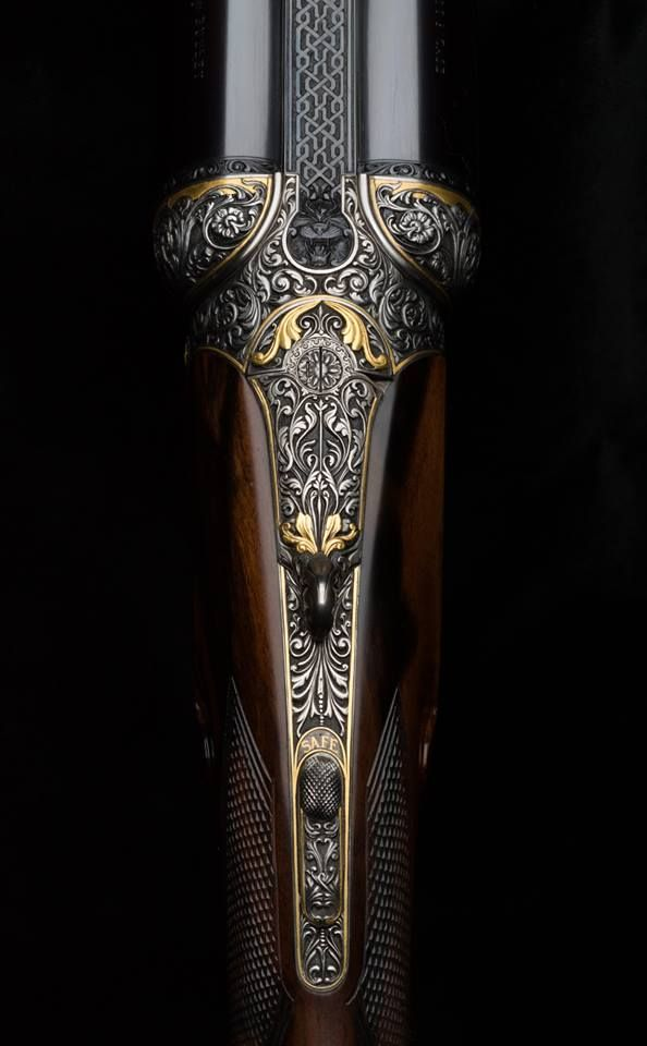 WESTLEY RICHARDS .577 HAND DETACHABLE LOCK. Another Rifle Magnificently Engraved by VINCENT CROWLEY