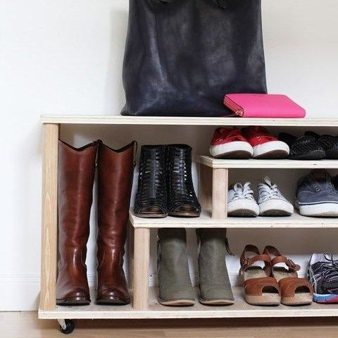 ComfyDwelling.com » Blog Archive » 12 Creative And Practical DIY Shoe Rack,  Organizers