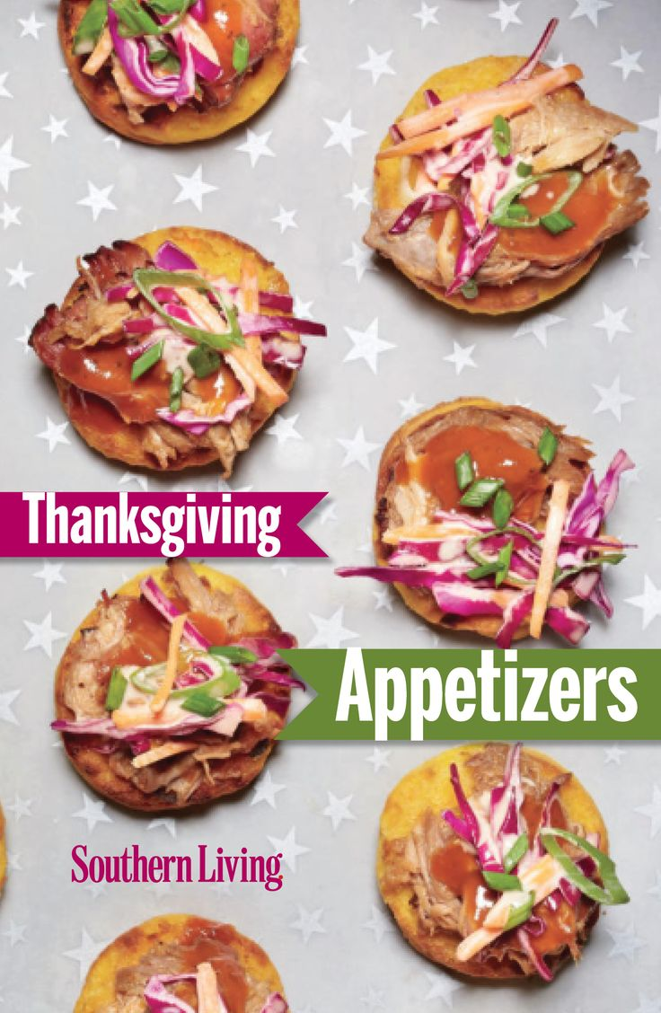 Ward off those pre-meal munchies and warm up appetites for the main event with these Thanksgiving appetizers, like Brie, stuffed mushrooms, or a delicious dip.