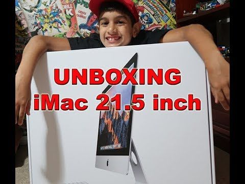 iMac 2017 21.5 inch Unboxing by The Garage TV - YouTube