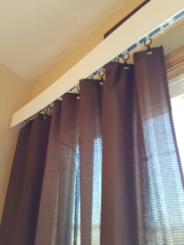 Vertical blind replaced with curtain  DIY projects to