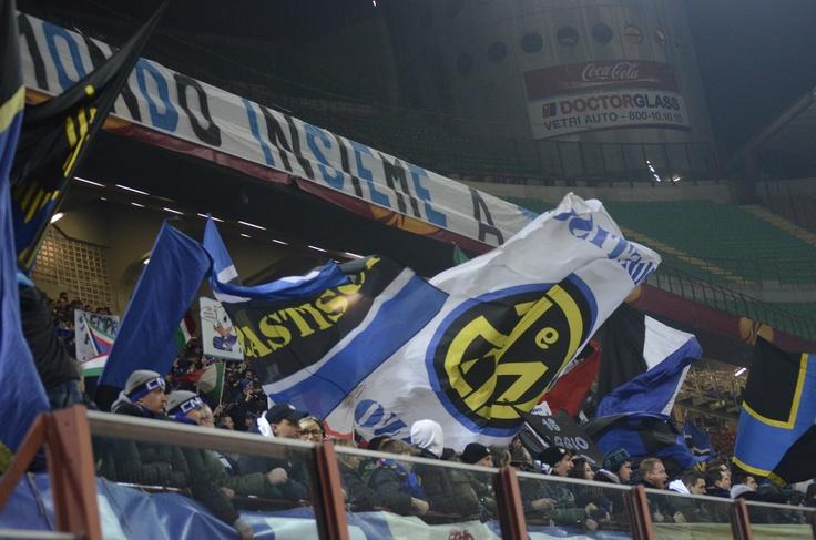 Atmosfera din tribunele Giuseppe Meazza la Inter - CFR Cluj / foto: Tiberiu Farcas/stiridesport.ro