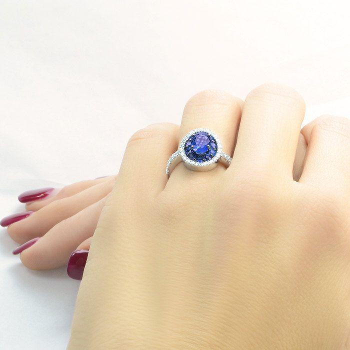 Anello in oro, anello con zaffiri, anello con diamanti, anello oro rosa, anello oro bianco, anello oro giallo, anello donna di CariniGioielli su Etsy