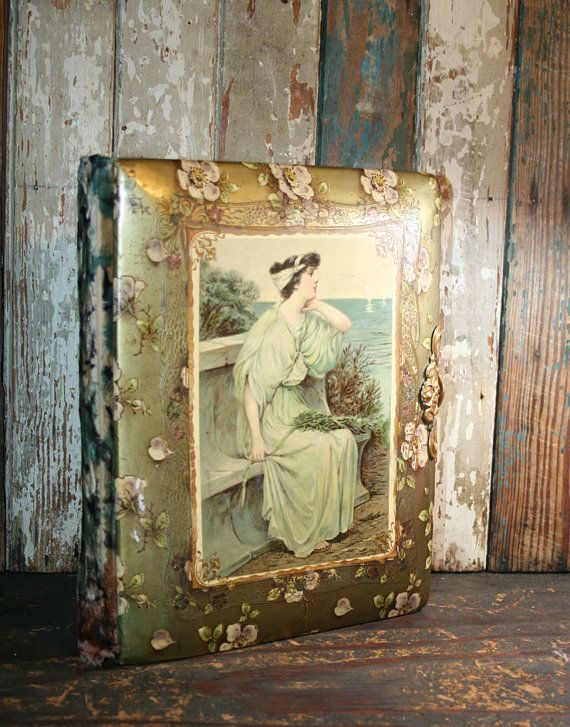 RESERVED for Micki-Vintage Celluloid Photo Album by AVintageSeason