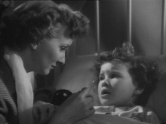 Joy Shelton and Jennifer Tafler in Emergency Call [The Hundred Hour Hunt] (1952) Directed by Lewis Gilbert