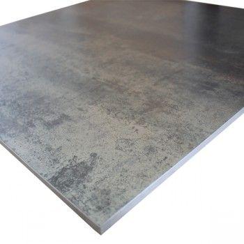 carrelage  métal rouille argent  60X60
