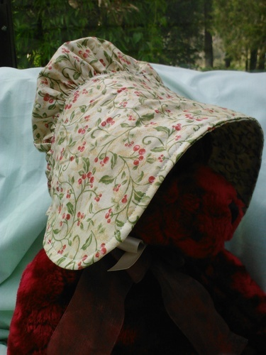 'Cherry Print Prairie Hat' is going up for auction at  6pm Thu, Aug 16 with a starting bid of $7.