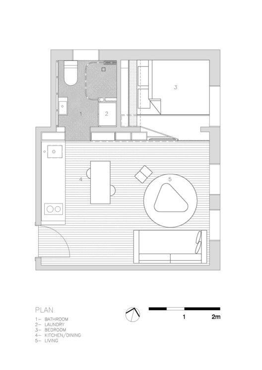 Darlinghurst Apartment,Floor Plan