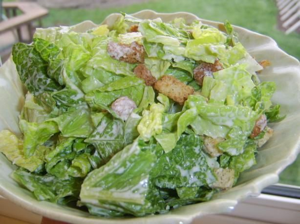 """BEST creamy caesar dressing recipe.  So good I could eat it with a spoon. It's not """"lite,"""" but way better for you than store bought, and comes together in under five minutes."""