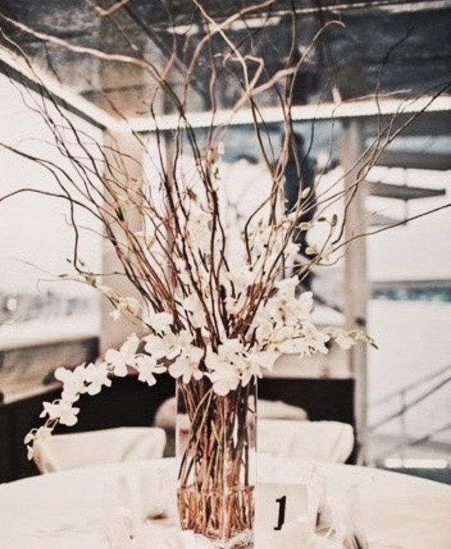 Large Branch Wedding Centerpiece by TheCraftingSisters1 on Etsy https://www.etsy.com/listing/228357183/large-branch-wedding-centerpiece