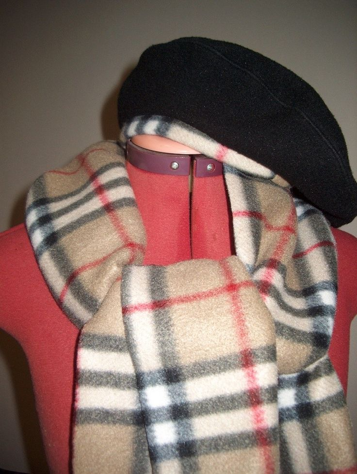 fleece scarf and beret