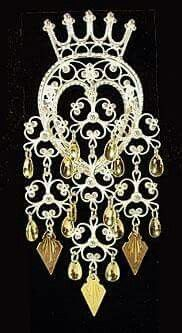 Crown Solje Brooch (popular for bunads from the Oppland area of Norway)