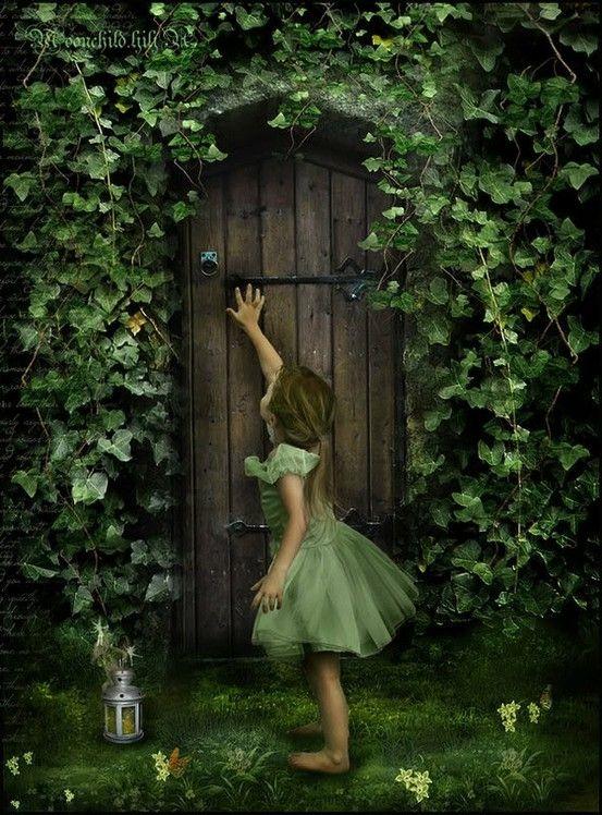 Secret garden door garden pinterest for The magic fairy door