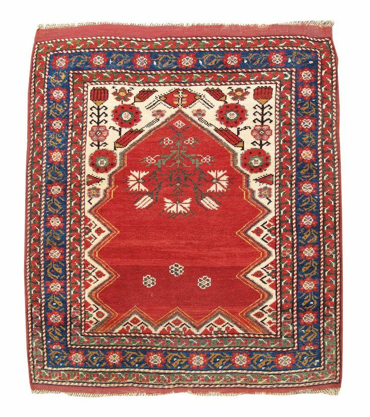 Bergama Prayer Rug Turkey 19th C 3rd Q Aladino Rugs
