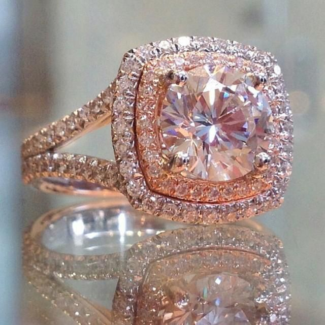 engagement ring eye candy rose gold engagement rings - Used Wedding Rings For Sale