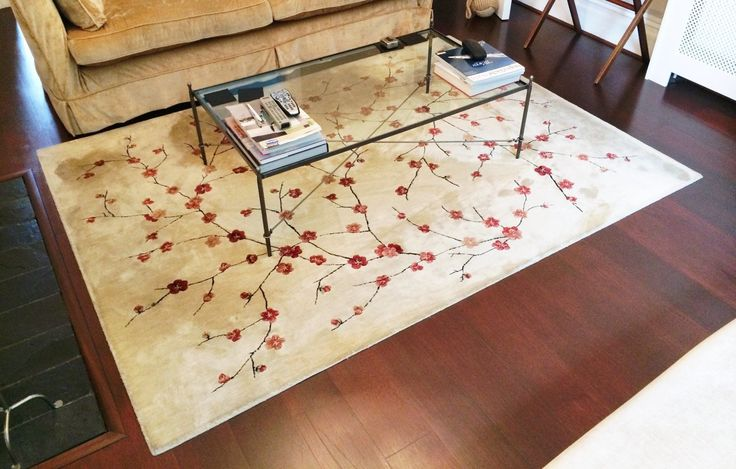 Cherry Blossom Wool Rug (John Lewis), Gold with black & red, 230x170cm | eBay