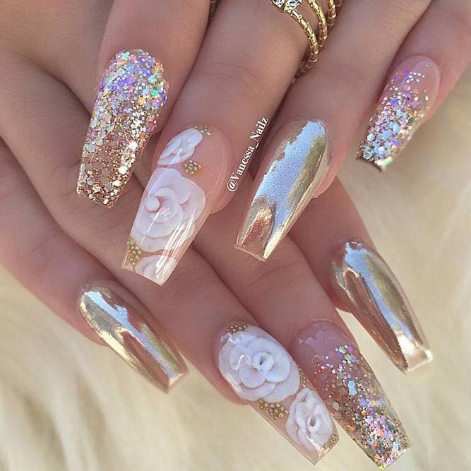 Perfect Coffin Acrylic Nails Designs To Sport This Season See More Https