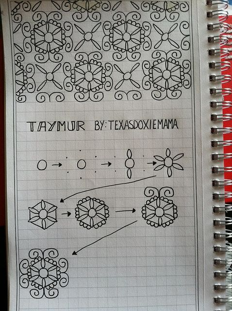 taymur #Zentangle pattern