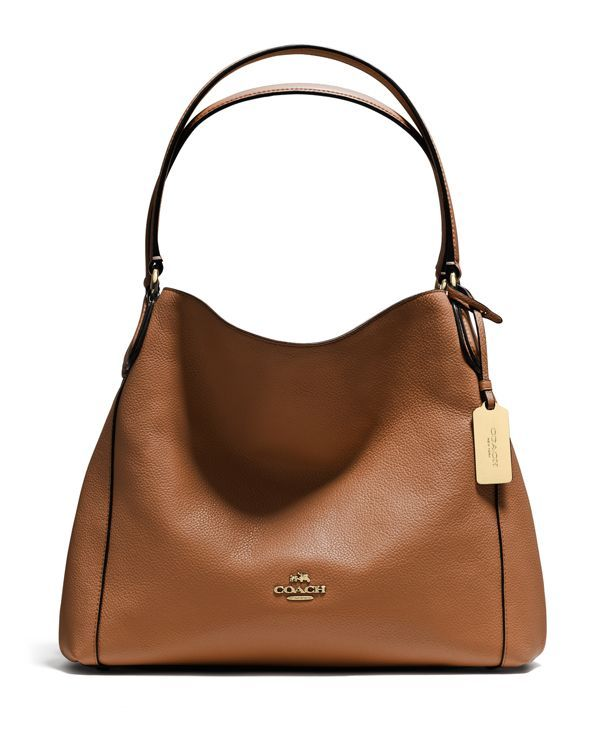 COACH Edie Shoulder Bag 31 in Refined Pebble Leather | Bloomingdale's