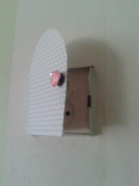 Wat zit er achter dat deurtje?.............. een stopcontact