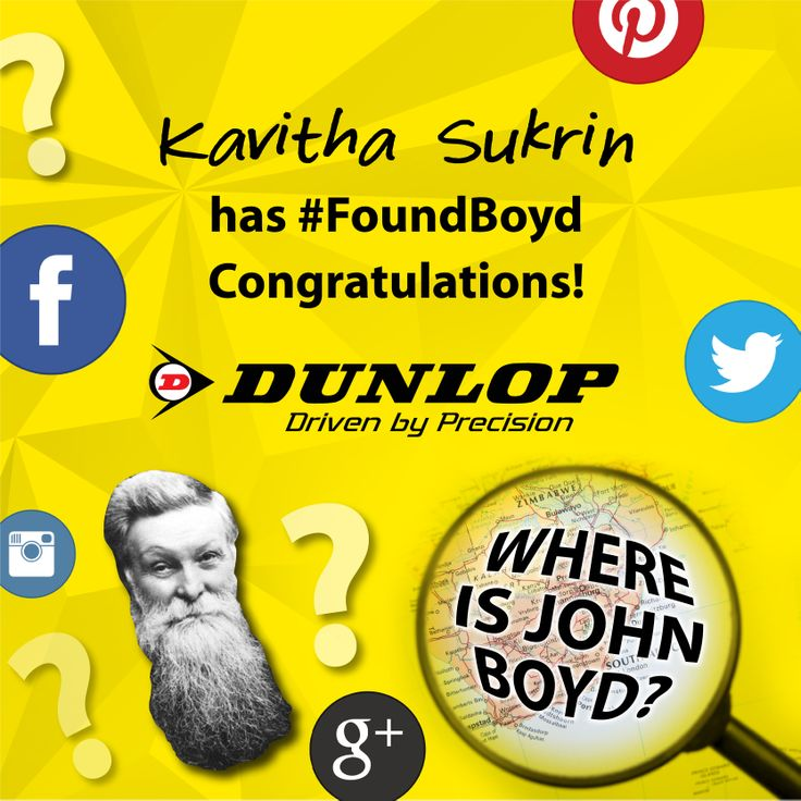 Drumroll please! The winner of the last week of the #FindingBoyd competition is…   Kavitha Sukrin!  Congratulations on winning a Samsung Galaxy tablet!