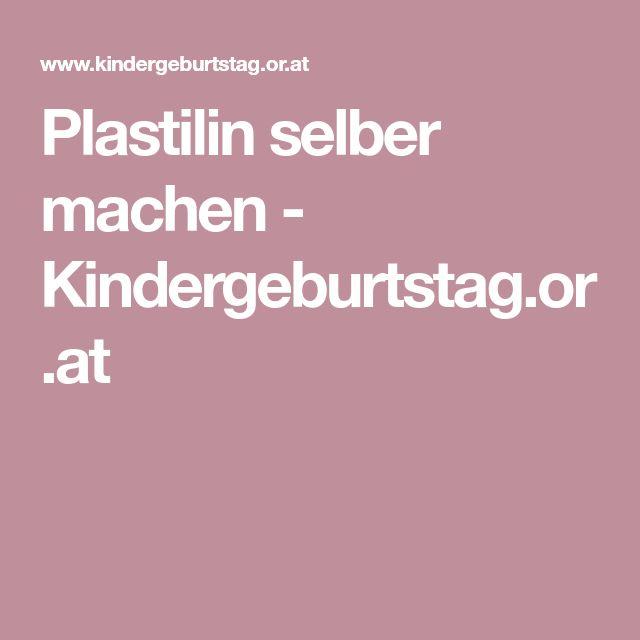 Plastilin selber machen - Kindergeburtstag.or.at