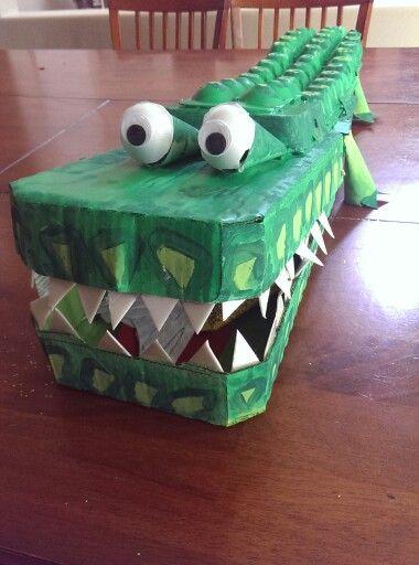 Weird Animals VBS egg carton/cardboard alligator