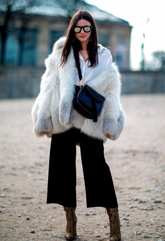 White oversized Faux fur jacket | streetstyle | autumn style | fashion inspiration | autumn look | fall style
