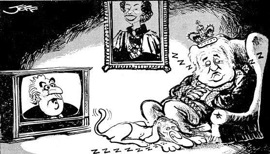 John Kerr Gough Whitlam Cartoon