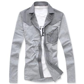 2012 new wave of spring loaded men's thermal shirt men's long sleeve shirt Plaid thickened and cashmere Korean cotton
