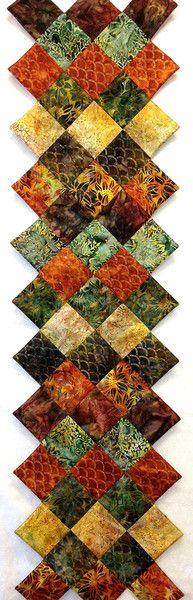 Jagged Edge Autumn Batik Table Runner Kit Cornucopia