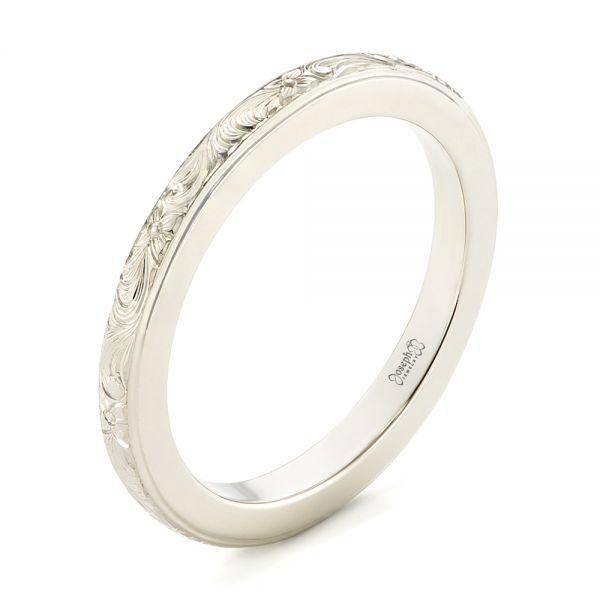 custom unplated hand engraved wedding band joseph jewelry bellevue seattle online