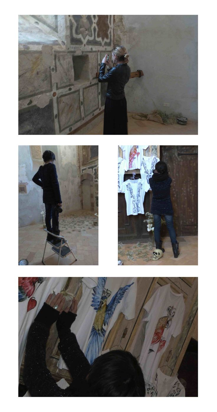 Foto del backstage della mia collezione di t.shirt attebasilE