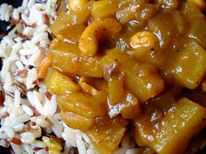 Receta Otro : Arroz con salsa especiada de frutas por Cocinandotelo