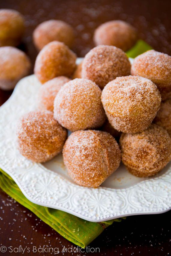 Apple Cider Donut Holes. Baked, not fried | sallysbakingaddiction.com @Sally [Sally's Baking Addiction]