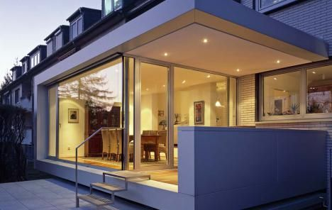 VCDesign is liking this treatment of a raised terrace with extension