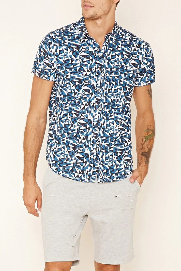 Geo Print Pocket Shirt #forever21men