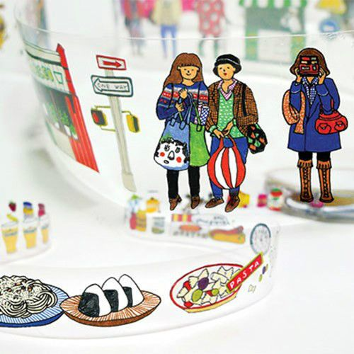 Diary Deco Sticker Set New In Box (2set) Deco Paper Tape Illust Daily Life #Handmade