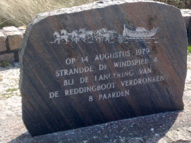 Horse memorial on Ameland, dutch island. Horses died during rescue action in 1979....