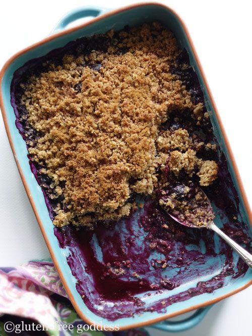 Gluten-Free Goddess- New Blueberry Crisp