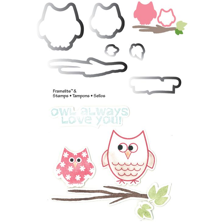 Sizzix Framelits Dies 6/Pkg With Cling Stamps-Autumn Owls | Overstock.com