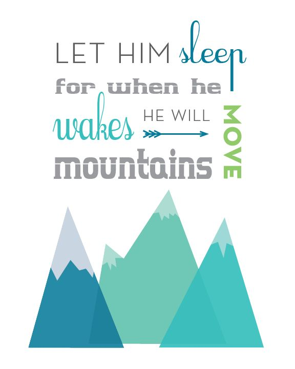 Design I made for our mountain themed nursery