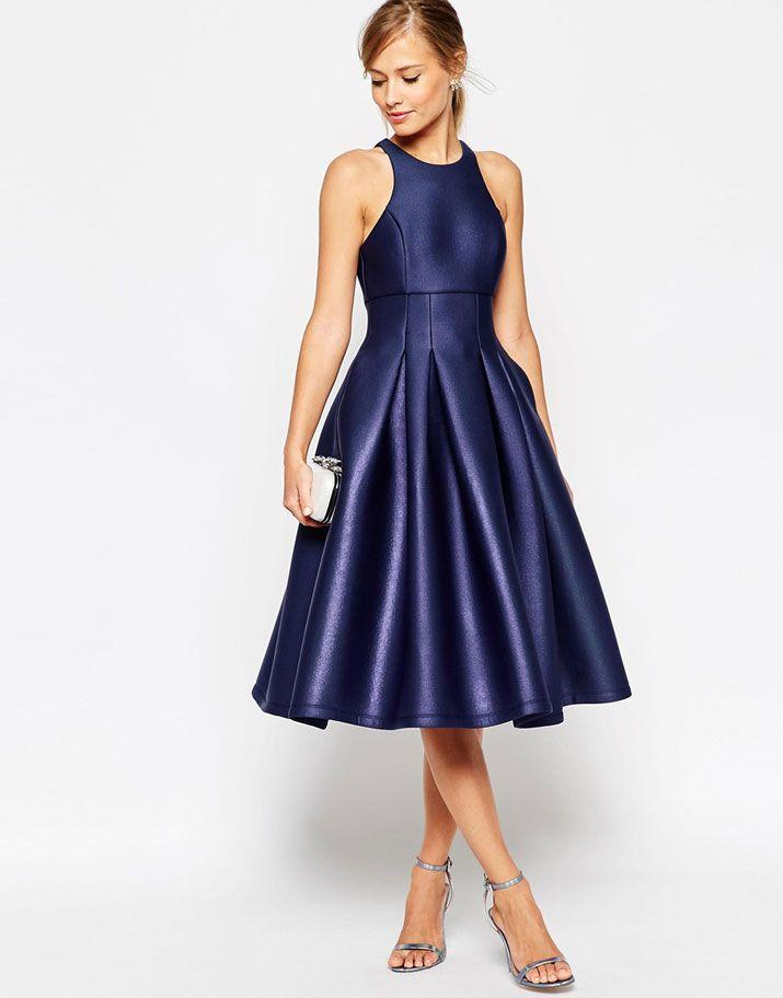 ASOS navy evening dress